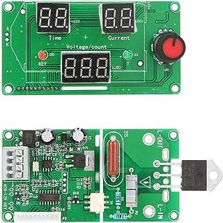 CUHAWUDBA 40A Pantalla LCD Digital Codificador De Doble Pulso Soldar por Punto Máquina De Soldadura Placa
