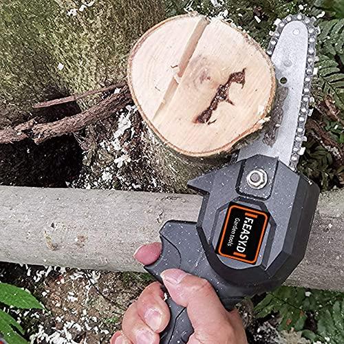 NIHE Mini Motosierra inalámbrica Batería de Litio de 24 V, Tijeras de podar portátiles de Mano para jardín al Aire Libre Corte de Madera de Rama de árbol
