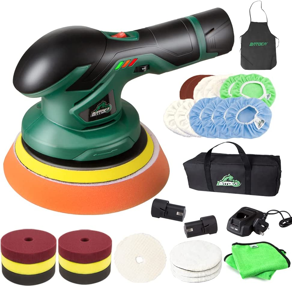 Deluxe Portland Mall BATOCA - Cordless Car Buffer Polisher 12V Lithium with 2pcs Re