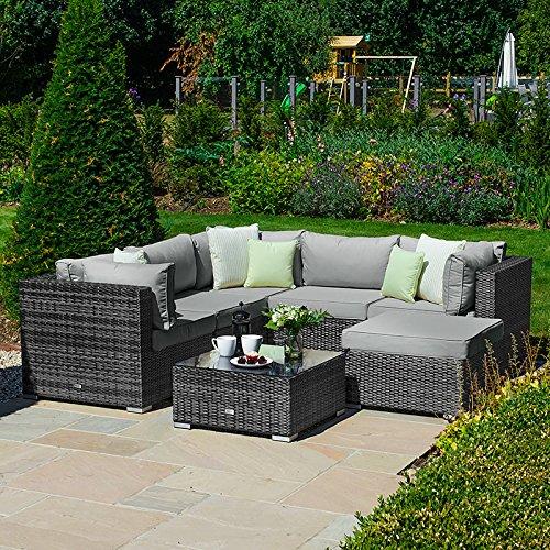 Outdoor Rattan Garden Furniture Corner Sofa Set by Nova - Chelsea Squared...