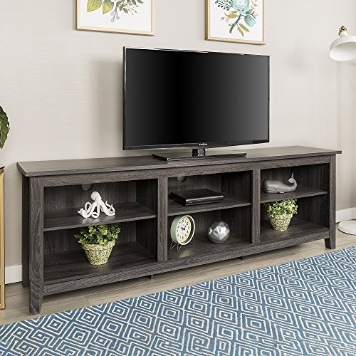Home Accent Furnishings New 70 Inch Wide Television Stand in Charcoal Finish
