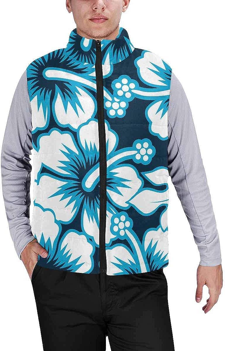 InterestPrint Men's Full-Zip Soft Warm Winter Outwear Vest Flag of US and Georgia