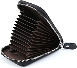 Men's Wallet Leather Credit Card Holder RFID Blocking Zipper Pocket New