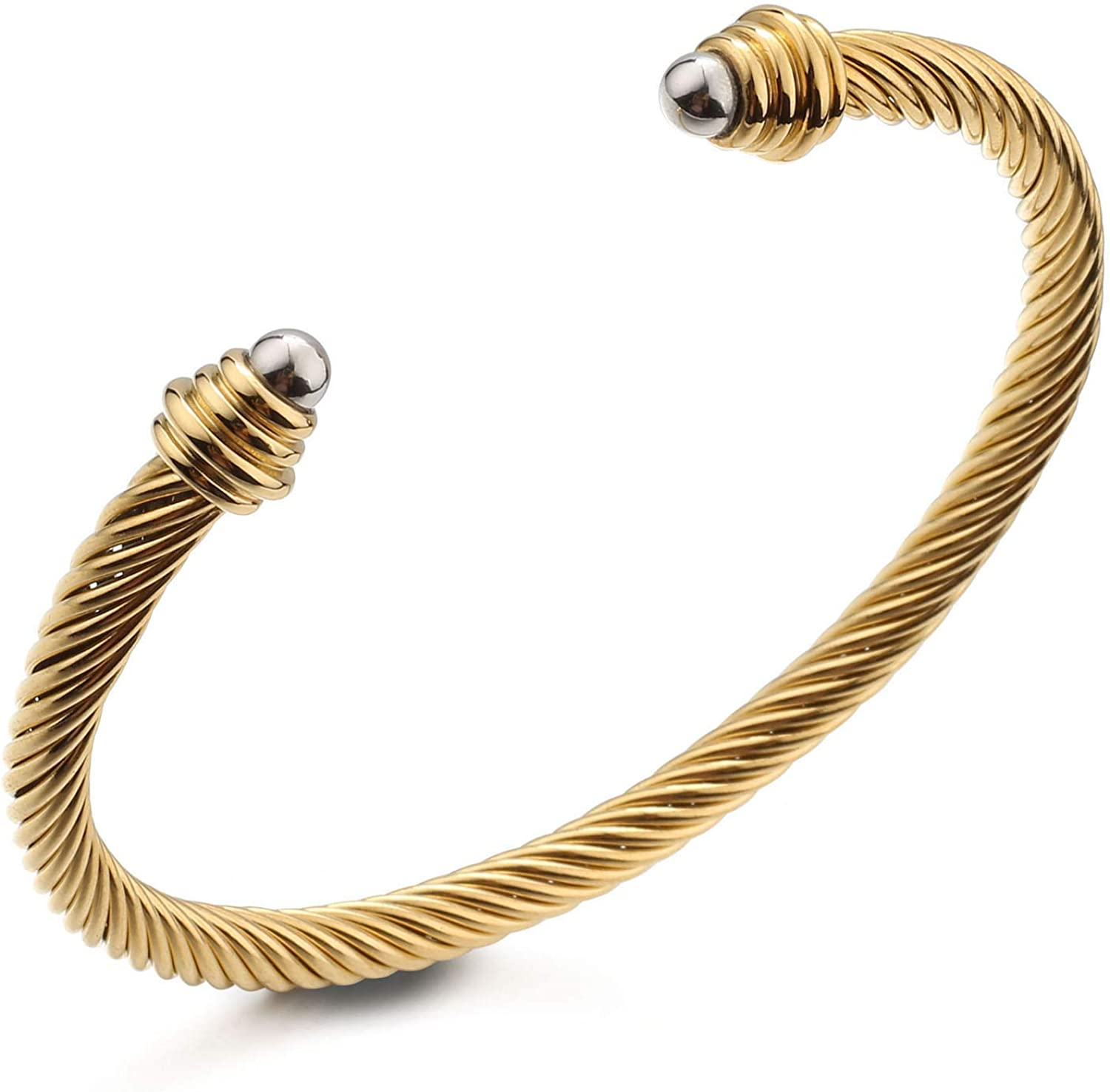 Cable Limited time cheap sale Wire New Orleans Mall Cuff Bangle Bracelets Women Ste Stainless Dorriss for