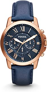 Fossil Men's Grant Stainless Steel and Leather...
