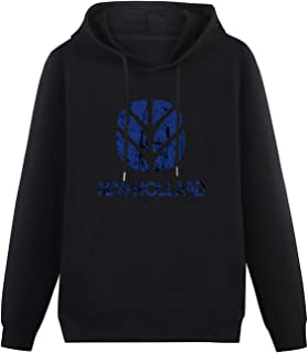 Gifts for Men New Holland Agriculture Tractor Father's Day Dad Grampa Grunge Hoodies Long Sleeve Pullover Loose Hoody Swea...