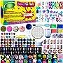 Slime Supplies Kit,155 Pack, Include Jelly Cube, Foam Balls, Glitter Jars, Fruit Flower...