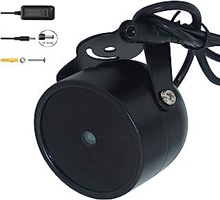 JC IR Illuminator 4-Led de alta potencia IR Light gran angular para visión nocturna CCTV y cámara IP negro con adaptador de corriente