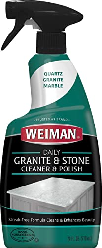 Weiman Granite Cleaner and Polish - 24 Ounce 6 Pack - For Granite Marble Soapstone Quartz Quartzite Slate Limestone C...