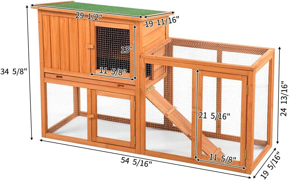 """Buy Esright Rabbit Hutch 8.8"""" Indoor Outdoor Rabbit Cage Bunny ..."""