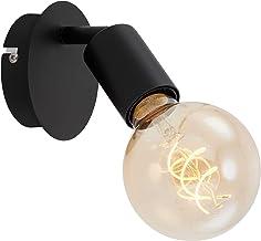 Briloner Leuchten Spotlamp, wandspot 1-lamp, retro/vintage, draaibare spotkop, E27, max. 60W, metaal, zwart, 60 W