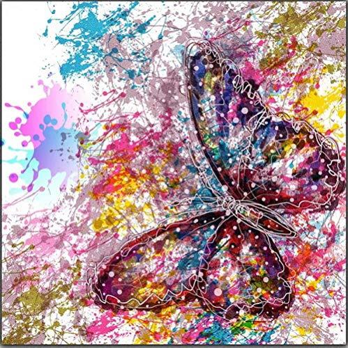 Forma de arte de MDF con inserto de mariposa más pequeña mariposa de madera