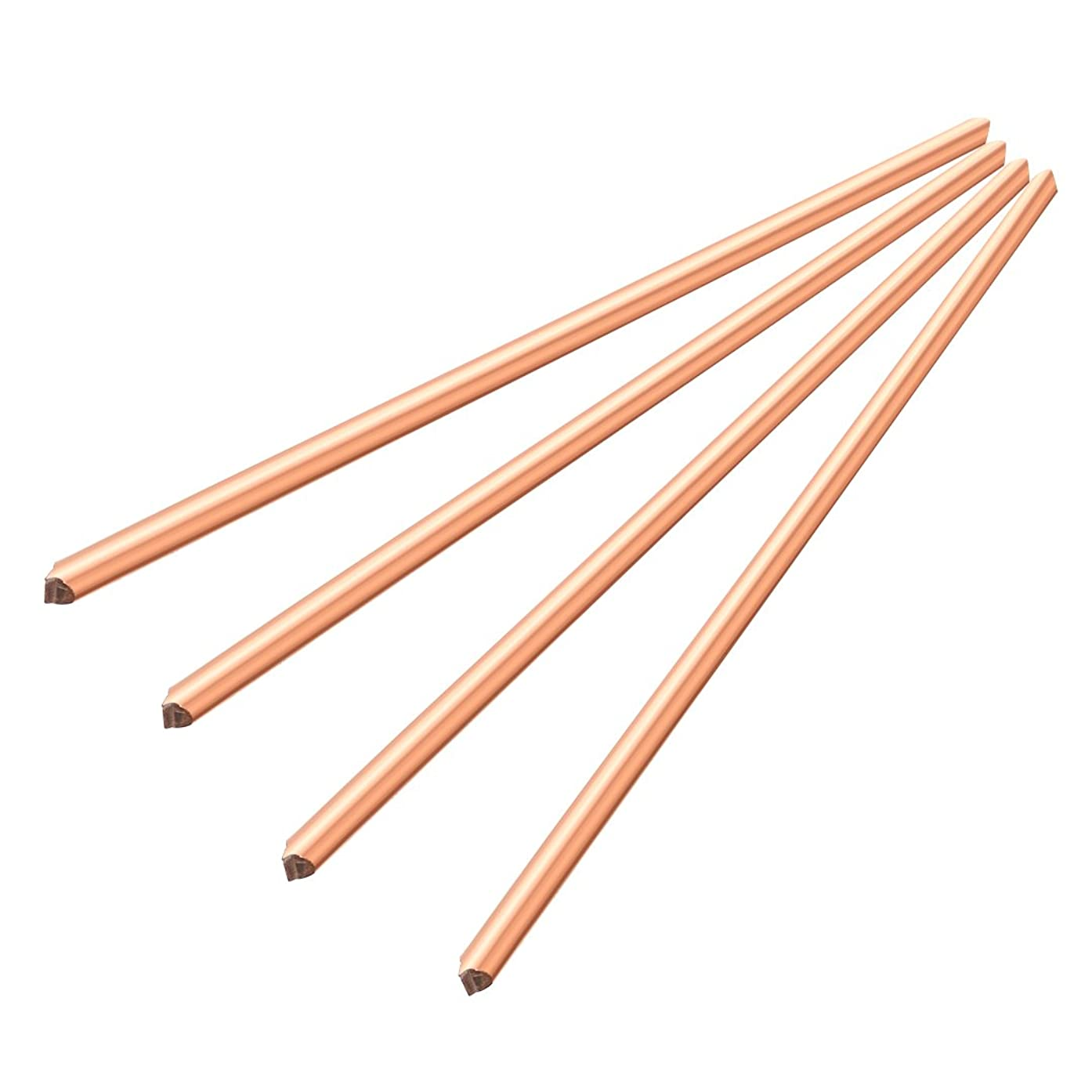 4 Pcs Copper Rod Round Metal Tube Cylinder Bar Tool,200 mm x 6 mm