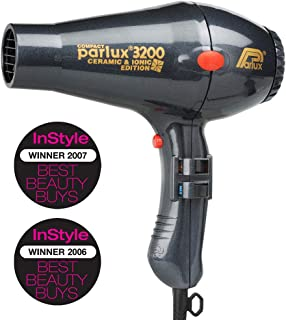 Parlux 3200 Ceramic & Ionic Dryer 1900W, Charcoal, 820 g
