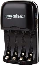 AmazonBasics - Cargador de pilas de Ni-MH AA y AAA con puerto USB