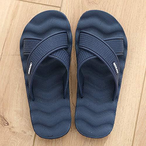 B/H Zapatillas de Masaje Mujeres,Zapatillas de Masaje Antideslizantes en el baño, Zapatillas de Playa con Fondo Suave al Aire Libre-Azul Oscuro A_43