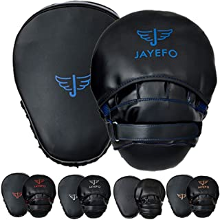 Jayefo Glorious Boxing Focus Mitts Pads Speed Curved Pads Strike Shield Kickboxing (Pair)