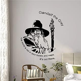 zqyjhkou Cita de Gandalf Tatuajes de Pared Regalo de Tolkien Etiqueta de Vinilo Señor de los Anillos Cartel Etiqueta de la Pared Pegatinas de Pared para Habitaciones de niños 116x136cm