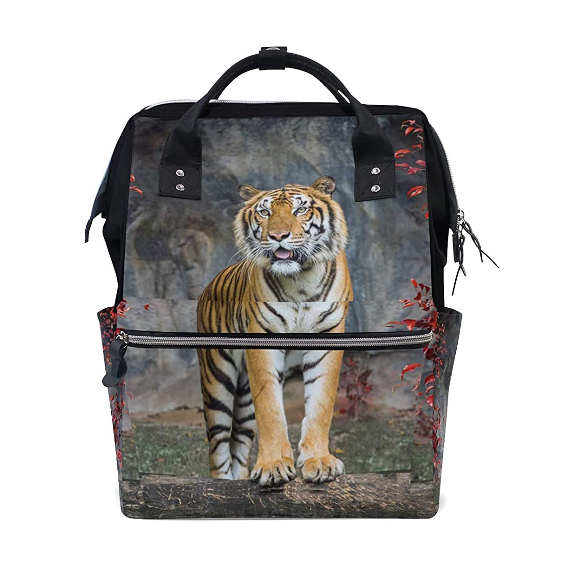 Tiger Red Tree School Backpack Large Capacity Mummy Bags Laptop Handbag Casual Travel Rucksack Satchel For Women Men Adult Teen Children
