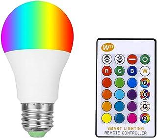Bombillas LED RGB blanco cálido con mando a distancia E27, 5 W, regulables, bombillas de ambiente