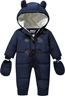 b6d5e038b TeenMiro Baby Winter Clothes Newborn Fleece Bunting Infant Snowsuit Girl Boy  Snow Wear Outwear Coats 0