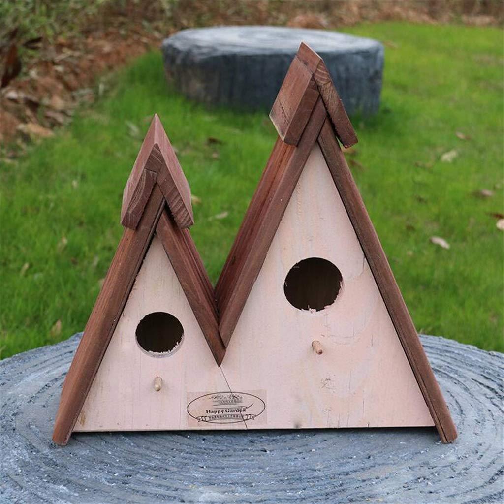 ART-YJ Nidos para pájaros Pajarera Jardín Natural Caja De Madera Divertido Bird Hotel Hecho A Mano Nido De Pájaro (Color : A): Amazon.es: Hogar