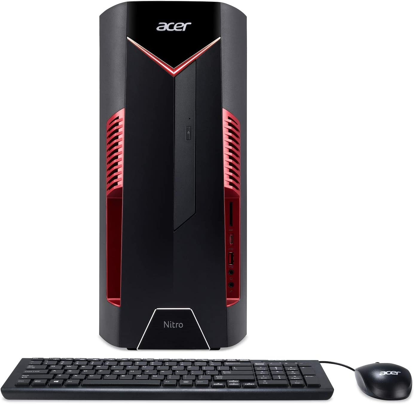 Acer Nitro 50 N50 600 Ur13 Desktop 8th Gen Intel Core I5 8400 Geforce Gtx 1060 Graphics 8gb Ddr4 256gb Ssd Windows 10 Home Computers Accessories