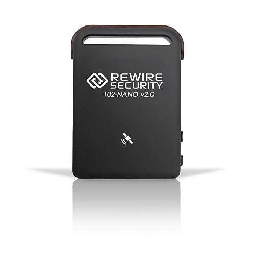 REWIRE SECURITY Genuine GPS Tracker 102-NANO Magnetic Car Vehicle Personal Tracking Device (102-NANO GPS Tracker + V2 Hard Wire Kit)