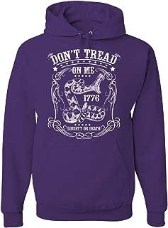 Don't Tread on Me Hoodie Liberty Or Death Gadsden Viper Snake Sweatshirt