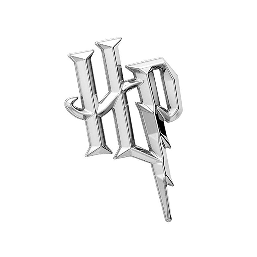 Fan Emblems Harry Potter Symbol 3D Car Emblem Chrome, HP Automotive Sticker Decal Badge Flexes to Fully Adhere to Cars, Trucks, Motorcycles, Laptops, Windows, Almost Anything