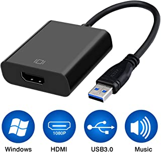 USB 3.0 to HDMI, HD 1080P Video Graphics Cable Adapter Converter for HDTV TV Audio Video Adapter for Windows 7/8/10 PC [No...