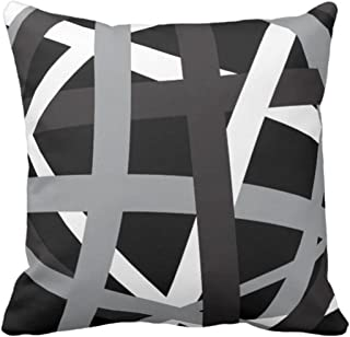 black and grey sofa pillows