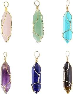 healing gemstone Crystal pendant healing stones BG1018 Healing pendant 10 PIECES Amethyst pendant Gemstone pendants healing crystal