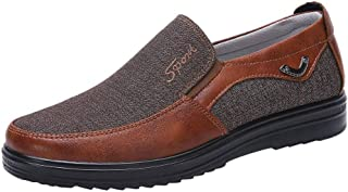 Alaso Hommes Chaussures en Cuir Mocassins Chaussures Bateau Conduite Chaussures Ville Casual Penny Loafers Chaussures Plat...