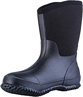 TENGTA Men Waterproof Neoprene Rain Boots Durable Insulated Rubber Hunting Boot Womens Gardening Shoes