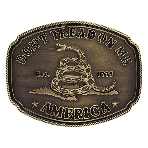 Montana Silversmiths 2nd Amendment Series Attitude Western Belt Buckle (American Gadsden Don't Tread on Me)