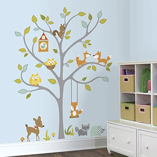 a763ffec0d RoomMates Woodland Fox & Friends Tree Peel and Stick Wall Decals, ,