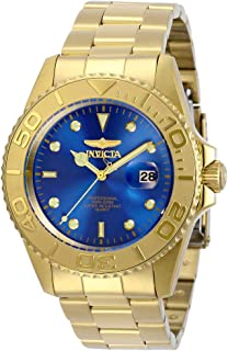 Men's Pro Diver Quartz Watch with Stainless Steel Strap, Gold, 22 (Model: 29947)