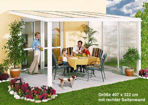 Beckmann Terrassen-Überdachung 322 x 508 cm einbrennlackiert weiß