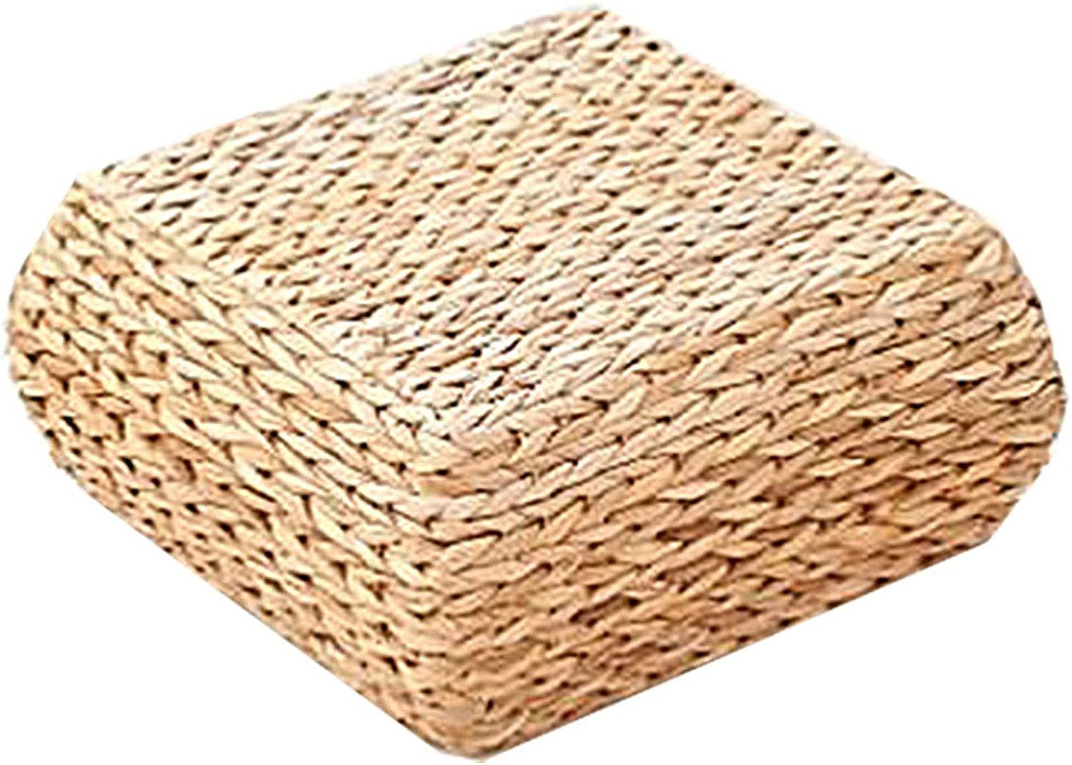 Low Stool Rattan Stool, Creative Home Square Coffee Table Stool, Suitable for Living Room, Bedroom, Dining Room (26 × 26 × 15cm)