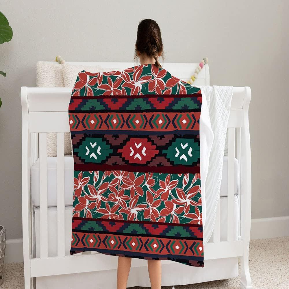 GANTEE Geometric National uniform free shipping Max 76% OFF Ethnic Aztec Tropical Super Fleec and Soft Cozy