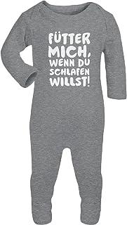 Shirtgeil Bester Baby Spruch - Fütter Mich, Wenn Du Schlafen Willst Baby Strampler Strampelanzug