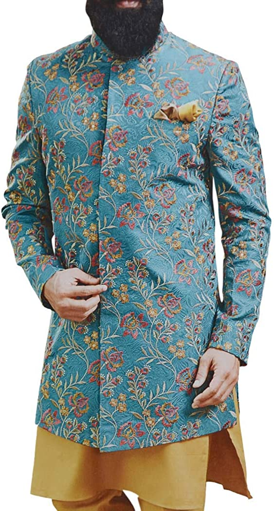 INMONARCH Indian Teal Jodhpuri Suit Wedding Embroidered Suit for Mens JO1024