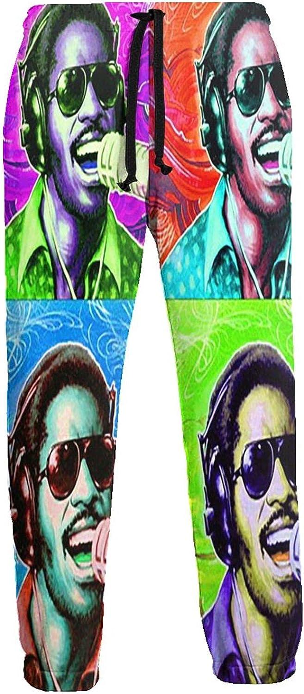 FORWEISITER Stevie Wonder Sweatpants Men's Long Pants Casual Lou