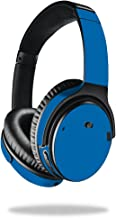 MightySkins Skin Compatible With Bose QuietComfort 35 Headphones - Solid Blue | Protective, Durable, and Unique Vinyl Decal wrap cover | Easy To Apply, Remove, and Change Styles | Made in the USA