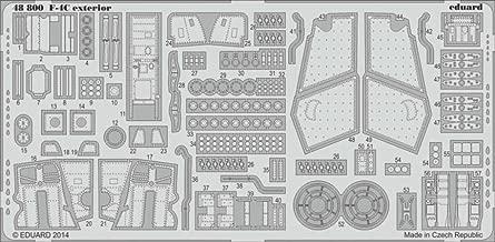 Eduard 1:48 F-4 C Exterior for Academy - PE Detail Set #48800