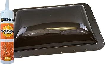 Class A Customs Premium Heavy Duty RV Camper Trailer Skylight - 18 x 26 OD / 14 x 22 ID Smoke - Install Kit CS