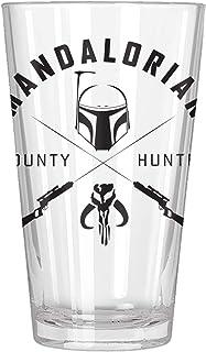 Silver Buffalo SW143966B Star Wars Mandalorian Hunter Boxed Pint Glass, 16-ounce, black