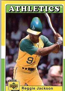 2001 UD Decade 70's Baseball Card #4 Reggie Jackson Oakland Athletics