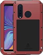 جراب هاتف Samsung Galaxy A8S من سبيكة الألومنيوم من السيليكون المصد من سبيكة الألومنيوم مع زجاج غوريلا هجين مقاوم للصدمات ومتين ومتين لهاتف Samsung A8S, A9S